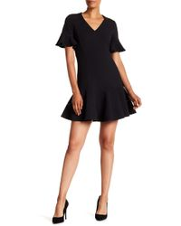 Rebecca Taylor - Short Sleeve Structured Texture Dress - Lyst