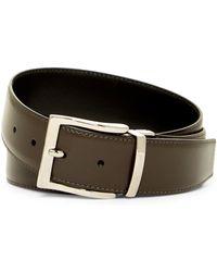 A.Testoni - Vintage Leather Reversible Belt - Lyst