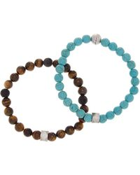 Steve Madden - Multi Beaded Bracelet - Set Of 2 - Lyst