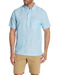 Onia - Josh Short Sleeve Henley Shirt - Lyst
