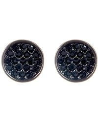 Ariella Collection - Pave Circle Earrings - Lyst