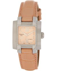 Tissot | Women's T-trend Leather Automatic Watch, 24mm | Lyst