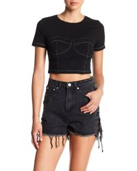 Mustard Seed - Corset Cropped Shirt - Lyst