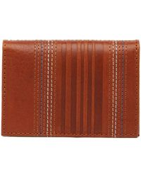 Tommy Bahama - Embossed Leather Bi-fold Card Case - Lyst