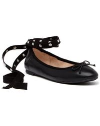 Circus by Sam Edelman - Celyn Studded Lace-up Ballet Flat - Lyst