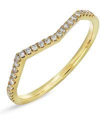 Bony Levy - 18k Yellow Gold Diamond Geo Wavy Ring - 0.13 Ctw - Lyst