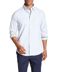 Tailor Vintage - Oxford Stripe Long Sleeve Stretch Fit Shirt - Lyst