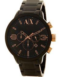 Armani Exchange - Men's Black Dial Chronograph Bracelet Watch - Lyst