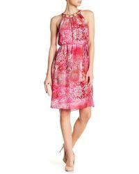 Elie Tahari - Courtney Floral Embellished Silk Halter Dress - Lyst