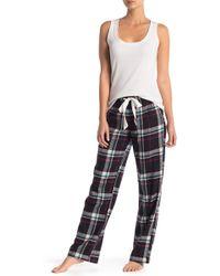5b2efaa0d74e Lyst - Maidenform Flannel Pajama Pants in Black
