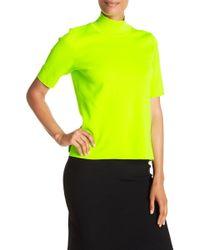 Diane von Furstenberg - Short Sleeve Mock Neck Pullover - Lyst