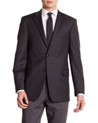 Tommy Hilfiger - Grey Windowpane Two Button Notch Lapel Slim Fit Suit Separates Jacket - Lyst