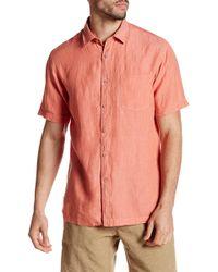 Tori Richard - Portofino Linen Short Sleeve Regular Fit Shirt - Lyst