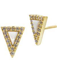 Freida Rothman - Metropolitan Triangle Stud Earrings - Lyst