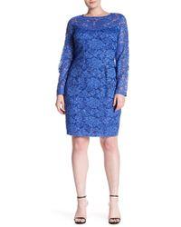 1512b08187039 Lyst - Alex Evenings Sequin Lace Tea Length Dress & Jacket (plus ...