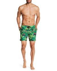 47021058ee Franks Pineapple Print Mid Length Swim Trunk in White for Men - Lyst