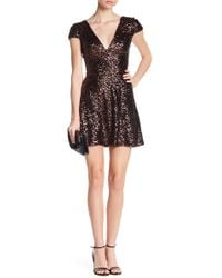 Dress the Population - Georgina Sequin Fit & Flare Dress - Lyst