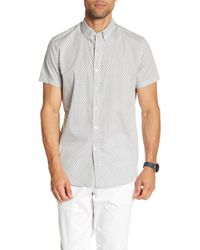 JB Britches - Patterned Short Sleeve Shirt - Lyst