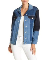French Connection - Indigo Patched Denim Jacket - Lyst