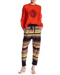 Free People - Drawstring Knit Print Joggers - Lyst