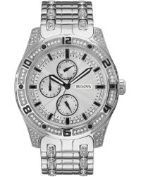 Bulova - Women's Quartz Crystal Accented Bracelet Watch, 43mm - Lyst