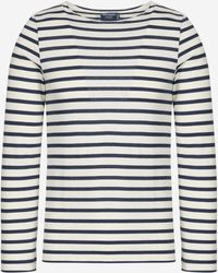 Saint James - Minquiers Mordern Authentic Breton Stripe Shirt - Lyst