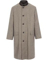 Lemaire - Salt & Pepper Wool Tweed Reversible Coat - Lyst