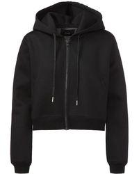 Stampd - Cropped Neoprene Hooded Sweatshirt - Lyst