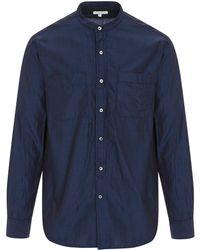 Engineered Garments - Cotton Banded Collar Shirt - Lyst