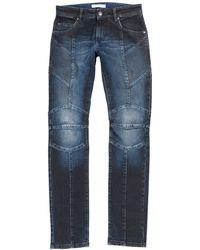 Balmain - Biker Jeans Hp55202j E5203 725 - Lyst