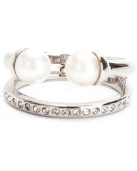 Vita Fede - Ultra Mini Double Pearl With Band Ring - Lyst