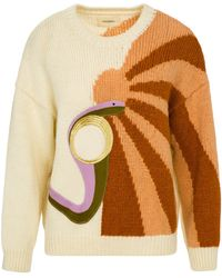 Nanushka - Indra - Intarsia Knit Sweater - Lyst