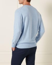5a38e64c55e111 Ted Baker Tall Cotton Oxford Crew Neck Jumper in Blue for Men - Lyst