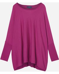 N.Peal Cashmere - Sleeved Superfine Cashmere Poncho - Lyst