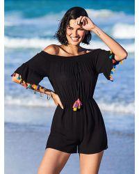 New York & Company - Black Off-the-shoulder Romper - Ny&c Swimwear - Lyst