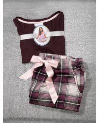 New York & Company - 2-piece Maroon Plaid Pajama Set - Lyst
