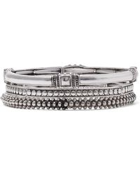 New York & Company - Silvertone 3-piece Stretch Bracelet - Lyst