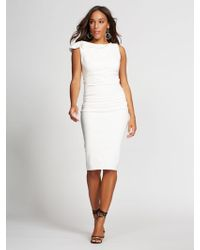 53364927c7 New York   Company - Shirred Sheath Dress - Gabrielle Union Collection -  Lyst