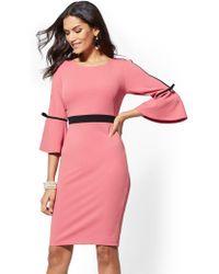 New York & Company - Bow-accent Bell- Sleeve Sheath Dress - Lyst