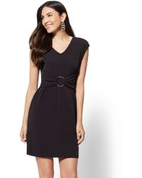 New York & Company - Hardware-accent V-neck Dress - Lyst
