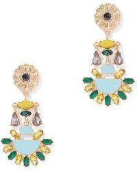New York & Company - Glittering Faux-stone Drop Earring - Lyst