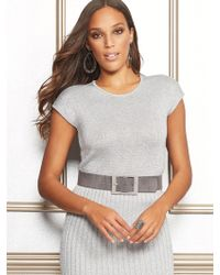 New York & Company - Eva Mendes Collection - Gina Metallic Sweater - Lyst