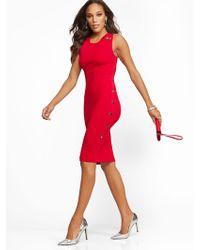 New York & Company - Button-accent Sheath Sweater Dress - Lyst