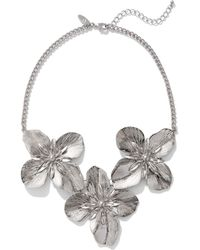 New York & Company - Polished Floral Statement Necklace - Lyst