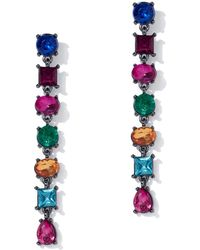 New York & Company - Multicolor Faux-stone Linear Drop Earring - Lyst