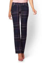 New York & Company - 7th Avenue Pant - Plaid Straight Leg – Signature - Lyst