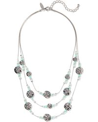 New York & Company - Sparkling 3-row Illusion Short Necklace - Lyst
