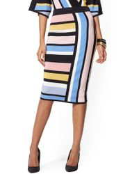 b5491a4b9 New York & Company - Multicolor Stripe Pencil Sweater Skirt - Lyst