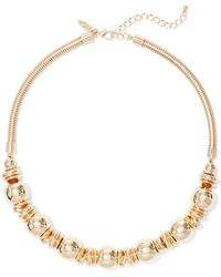 New York & Company - Goldtone Rondelle Collar Necklace - Lyst