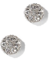 New York & Company - Sparkling Silvertone Post Earring - Lyst